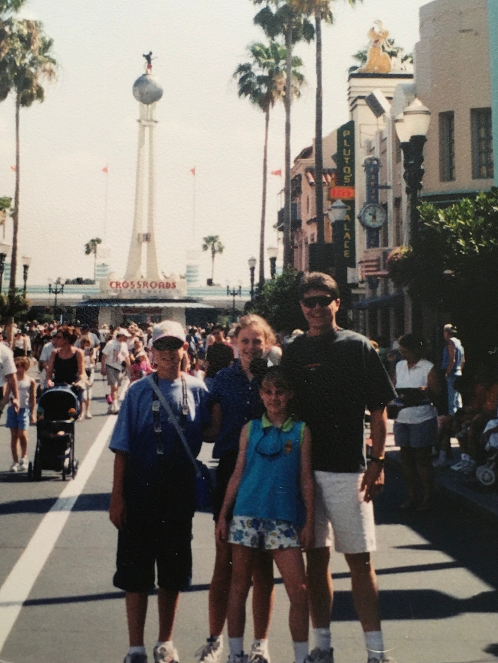 Standing on Hollywood Boulevard in MGM Studios, now called Disney's Hollywood Studios