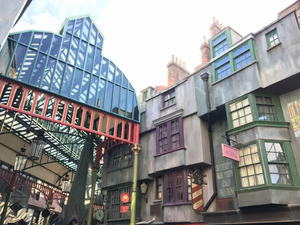 Another view of the theming at Diagon Alley