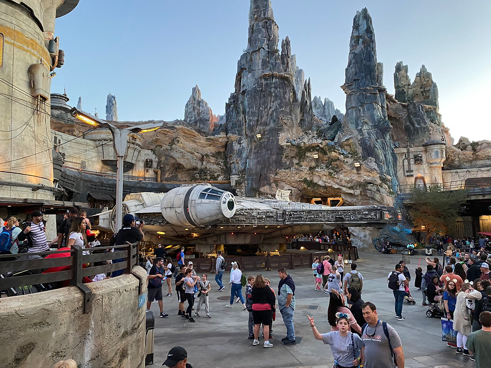 Millennium Falcon at Galaxy's Edge in Hollywood Studios at Disney World