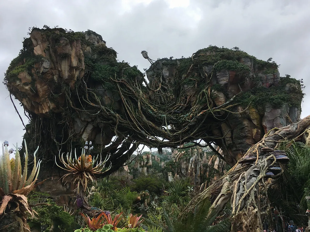 Floating rock formations in Pandora the setting of Avatar and home to Avatar: Flight of Passage. Located at Animal Kingdom in Disney World