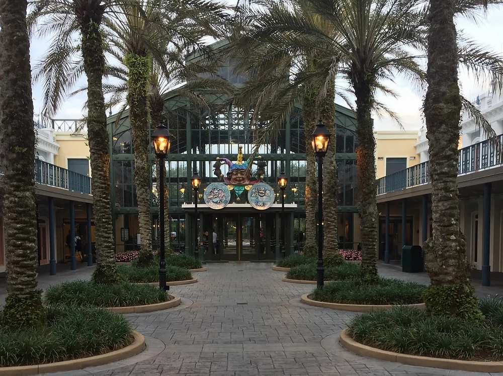 Entrance to the Disney's Port Orleans - French Quarter lobby