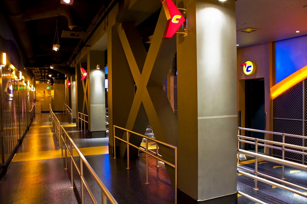 Soarin' loading are showing A, B and C concourses. Located in EPCOT at Disney World