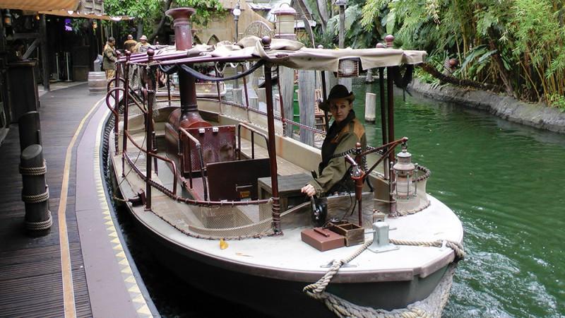 Loading area for the Jungle Cruise ride at Disney's Magic Kingdom