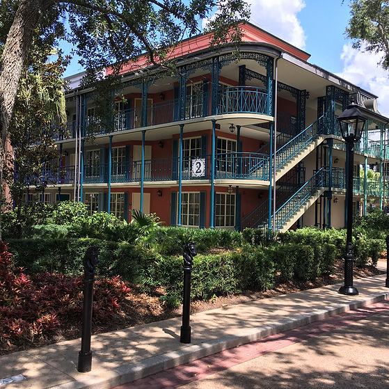 Disney's Port Orleans Resort: French Quarter building