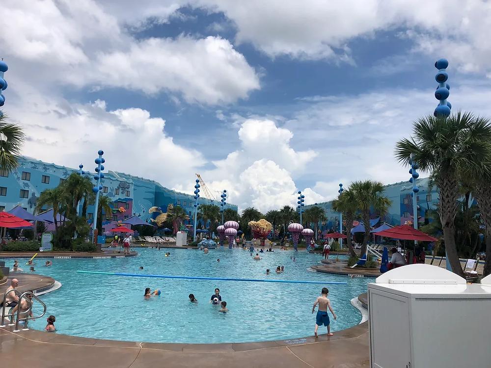 Large swimming area at Big Blue Pool at Disney's Art of Animation Resort