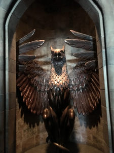 Bronze Phoenix statue is the entrance to Dumbledore's Office from Harry Potter