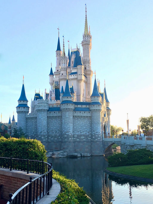 View of side of Cinderella Castle at Magic Kingdom in Disney World