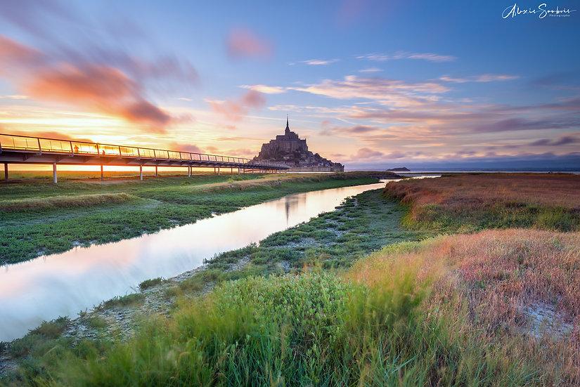 Le Mont Saint-Michel sous un superbe Sunset
