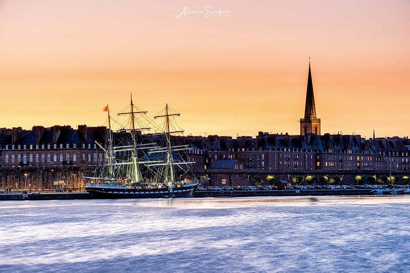 """Le prestigieux trois-mâts """"le Belem"""" en visite à Saint-Malo (aout 2021) 2"""