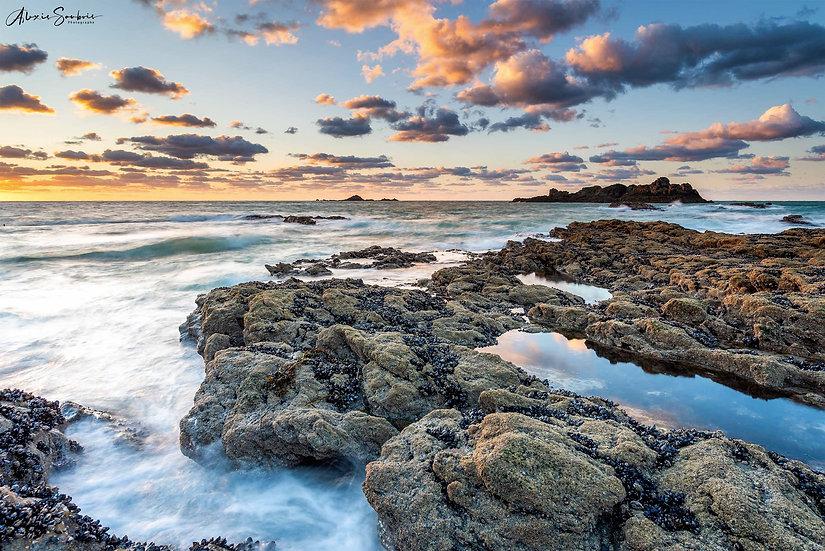 Magnifiques coucher de soleil aux rochers sculptés
