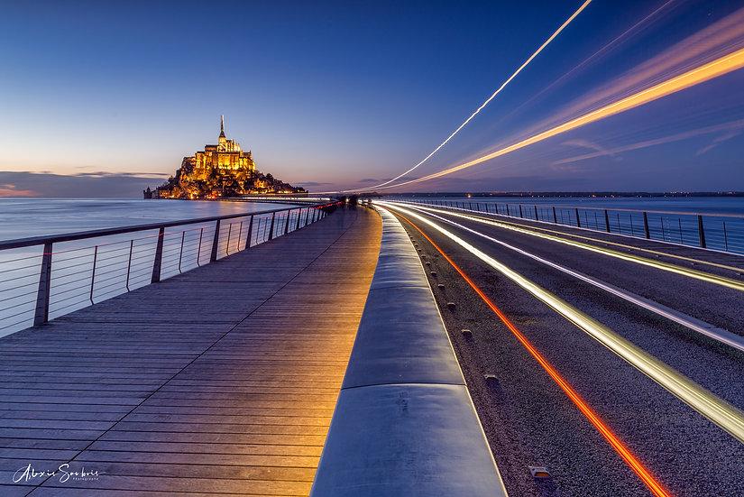 Le filé de la navette du Mont Saint-Michel