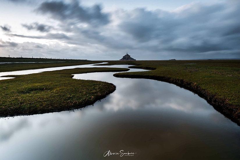 Ambiance dark aux méandres du Mont Saint-Michel