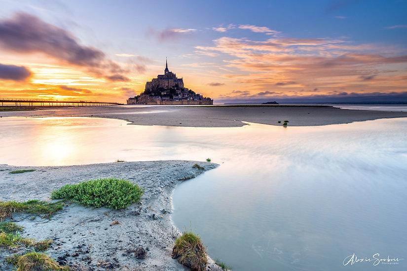 Le Mont Saint-Michel depuis sa baie