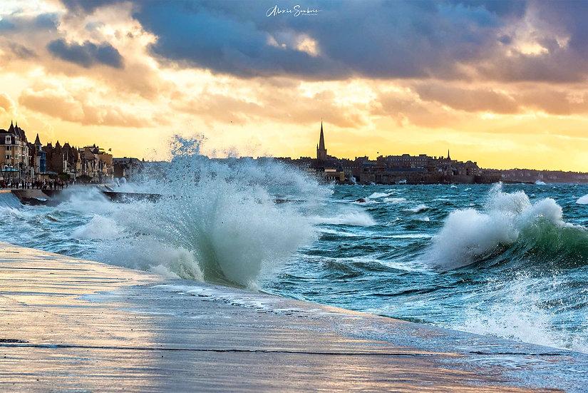 Superbe coucher de soleil pendant les grandes marées d'oct-21 (2)