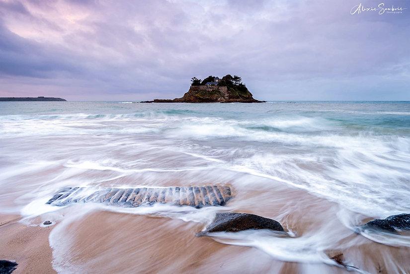 Quelques effets sur la plage de l'île du Guesclin