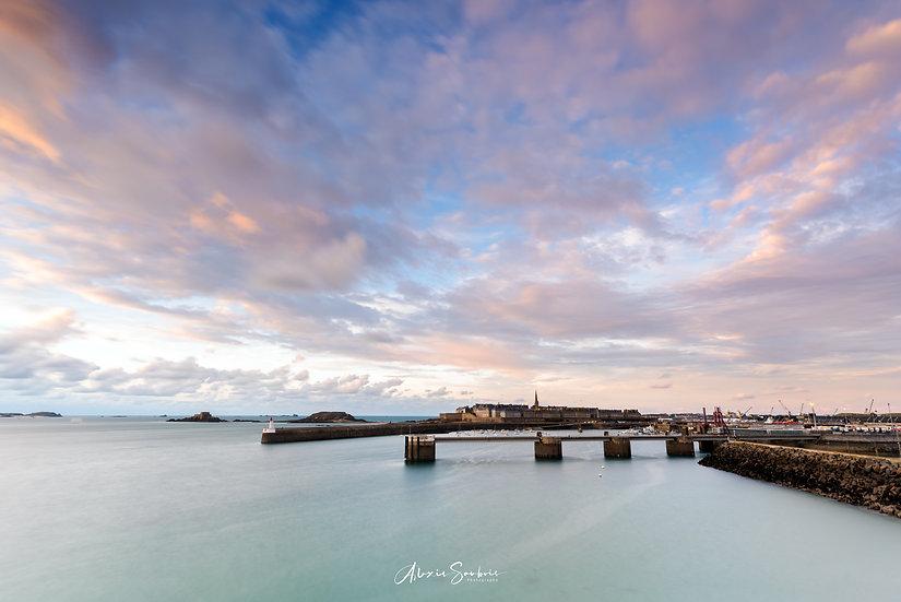 Saint-Malo vue de la cité d'Alet