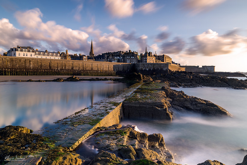 Saint-Malo vue de la Plage de l'éventail