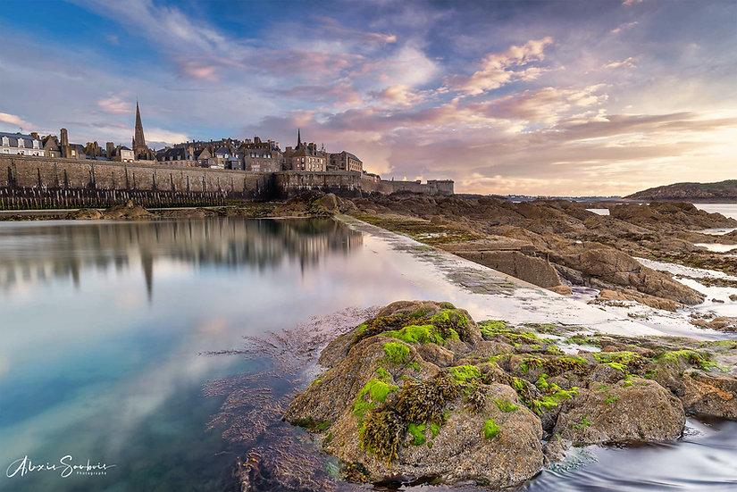 Saint-Malo depuis la marre de l'éventaille