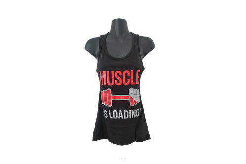 CAMISETA REGATA FORCE GYM FEMININA PRETA