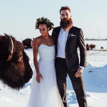 Bohemian Bison Winter Elopement