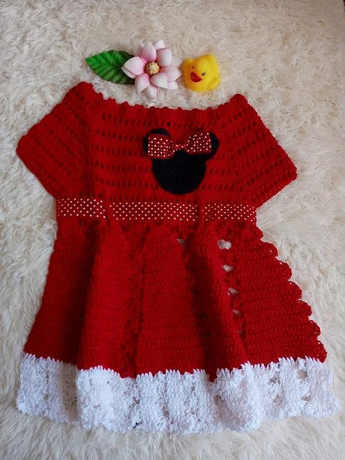 Vestido decrochê Minnie