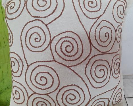 Capa de almofada espiral