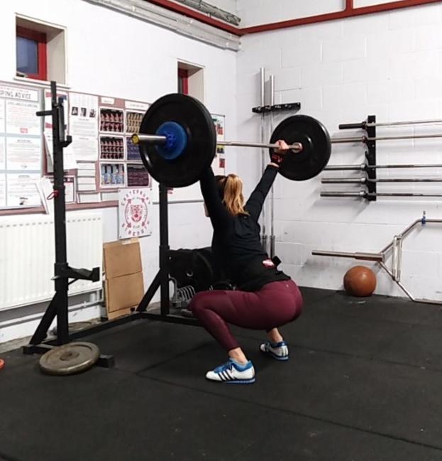 snatch balance, overhead squat position
