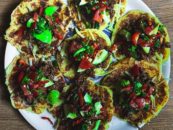 Inside Matt's Kitchen: Potato pancakes with beef teriyaki and spicy dressing