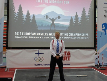 David Mannion's Report on The European Masters Weightlifting Championships 2019