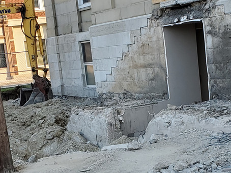Day 2 of the Courthouse Back Security Entrance construction