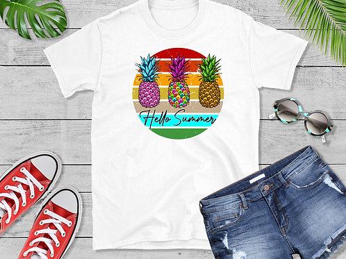 Hello Summer Pineapple Tee