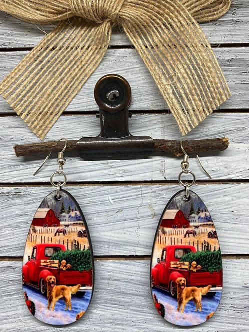 Country Christmas Earrings