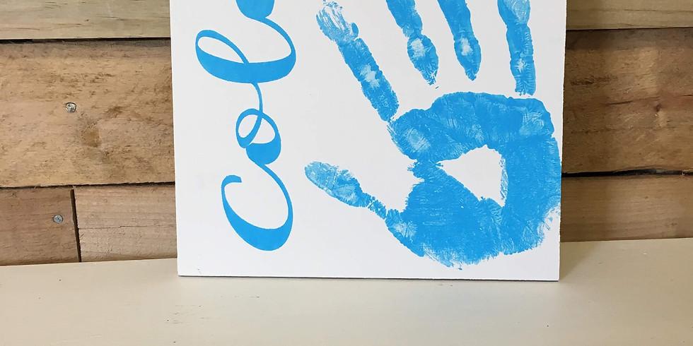 Kid's Handprint Keepsake Class  July 10