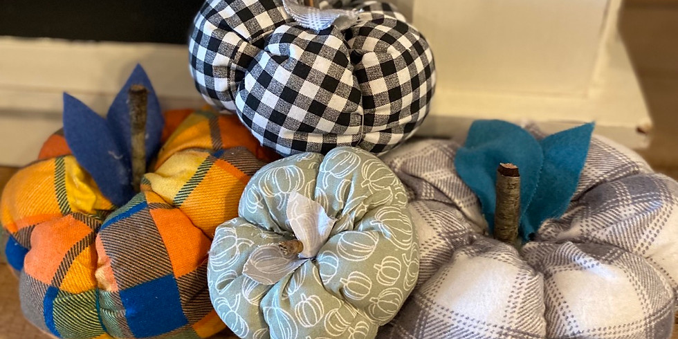 Fabric stitched pumpkins!