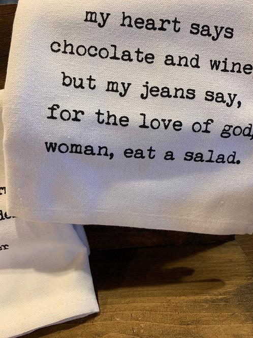 Humorous Tea Towel