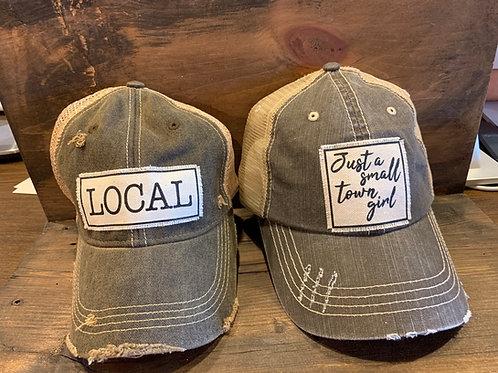 Vintage distressed trucker hat