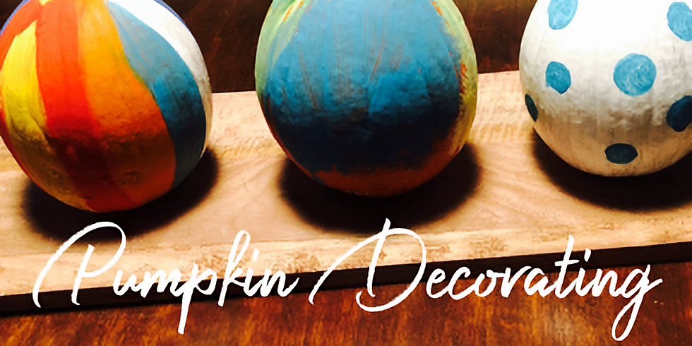 Pumpkin Painting and decorating