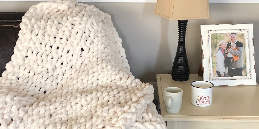 Three Blondes Brewing chunky blanket