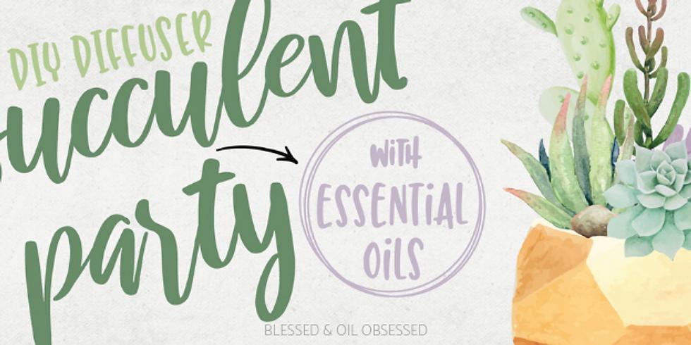 DIY Succulent Oil Diffuser