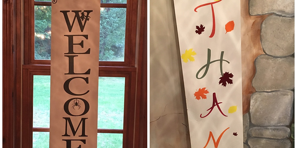 Halloween/ Fall Reversible Front Porch sign