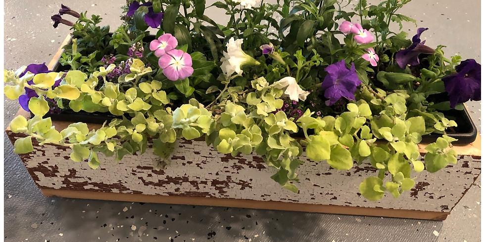 Make & Take Barnwood Flower Box