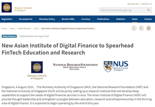 Prof Duan is appointed to lead the Asian Institute of Digital Finance