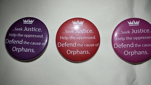 """2"""" Seek Justice Button"""