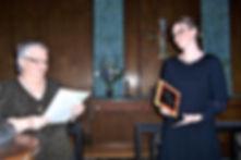 Linda presenting Ashley with Award