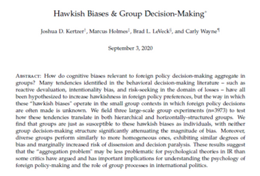 Hawkish Biases & Group Decision-Making