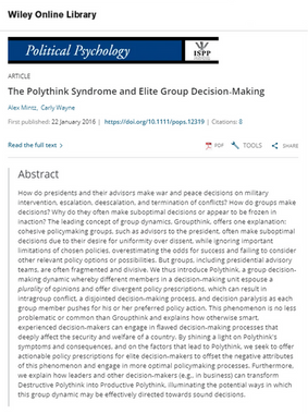 The Polythink Syndrome and Elite Group Decision-Making