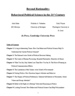 Beyond Rationality: Behavioral Political Science in the 21st Century