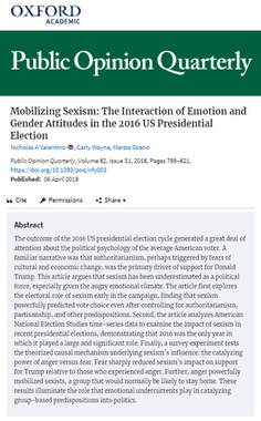 Mobilizing Sexism: The Interaction of Emotion and Gender Attitudes in the 2016 U.S. Presidential Election