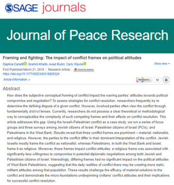 Framing & Fighting: The Impact of Conflict Frames on Political Attitudes