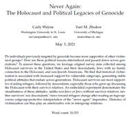 Never Again: The Holocaust & Contested Political Legacies of Genocide